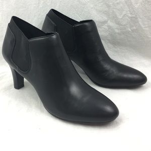 New Bandolino Leather Boots Black Ankle Booties